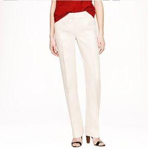 J. Crew Trouser Herringbone Linen Pants Size 2